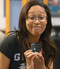 Bob Raines--Montgomery Media / <br /> STEAM project student Jordan Burgh models a GoPro action camera that comes with severals mounting options May 27, 2015.