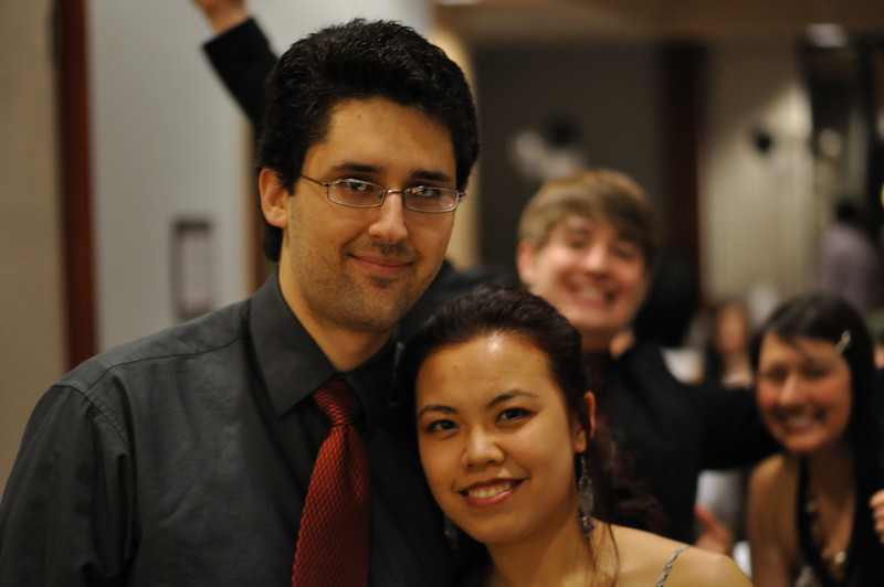 Jude and Tina are photobombed by J-Pat.