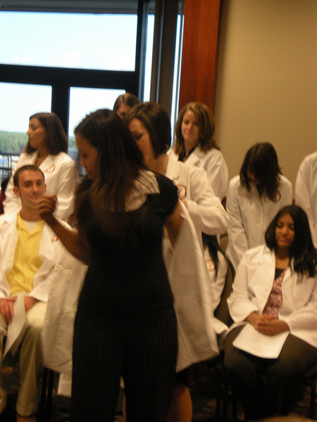 Tina gets her white coat!