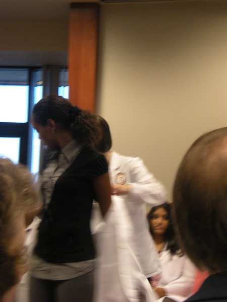 Nujuma Ziad gets her white coat.