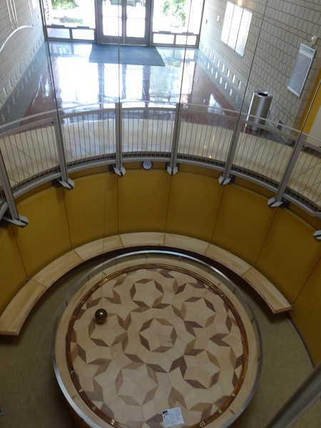 Inside Harned Hall (Science) Pendulum