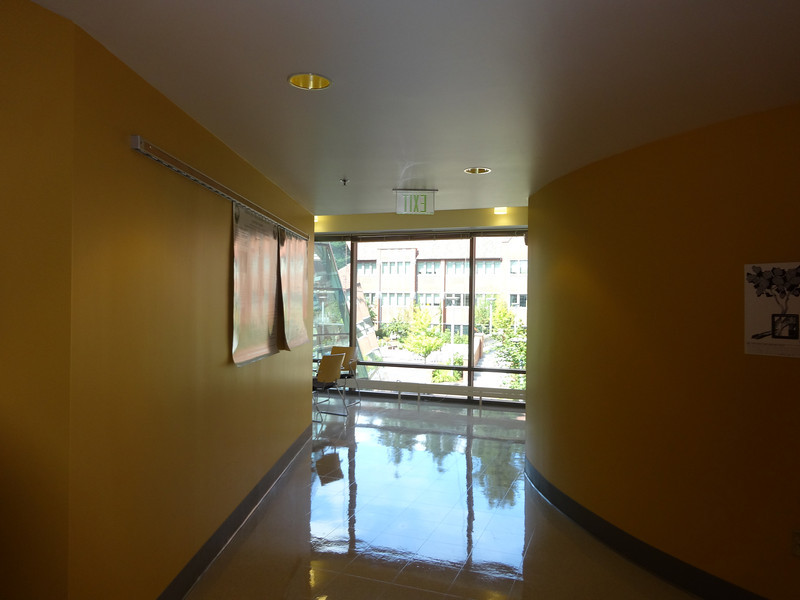 Inside science building