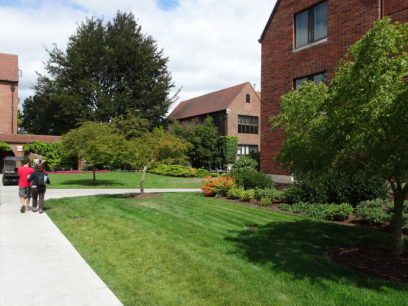 Walk from Todd Field to Wheelock Student Center