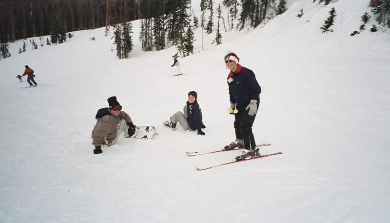 Jen-ae prefers skis!