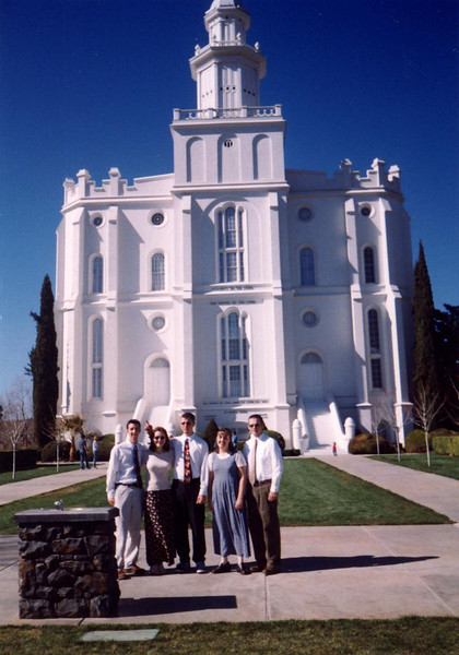 We also stopped by the St. George temple this trip.