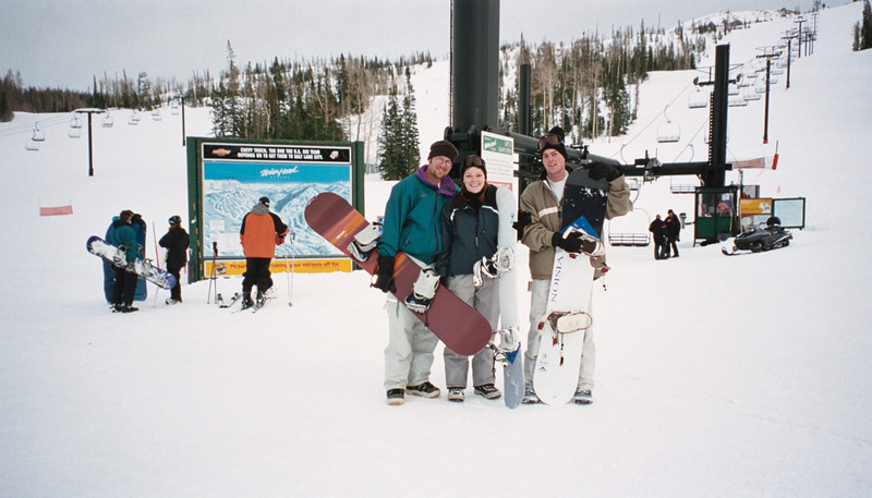 David, Kate and I after a long day on the slopes.