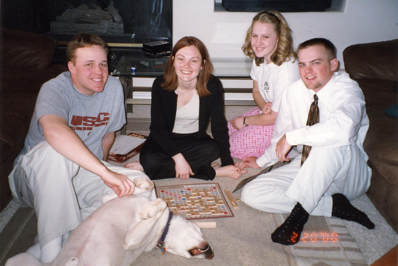 I always wear a white shirt and tie to play Scrabble.  Is that weird?