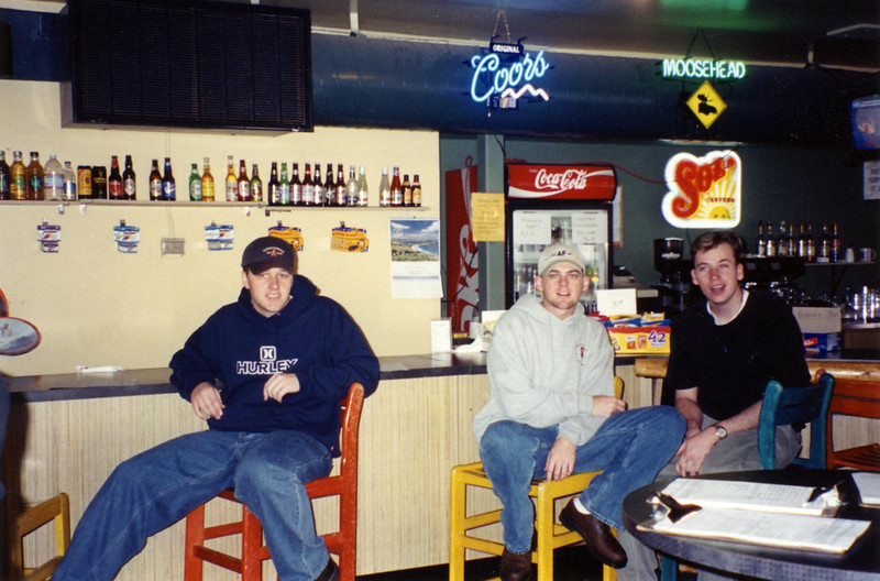 Chris, Ryan and I try to relax beforehand.