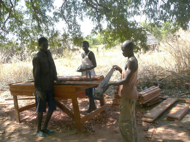 Our carpenter is originally from Yei, and lives in Malakon. Providing economic opportunity for Southern Sudanese has always been part of our mission.