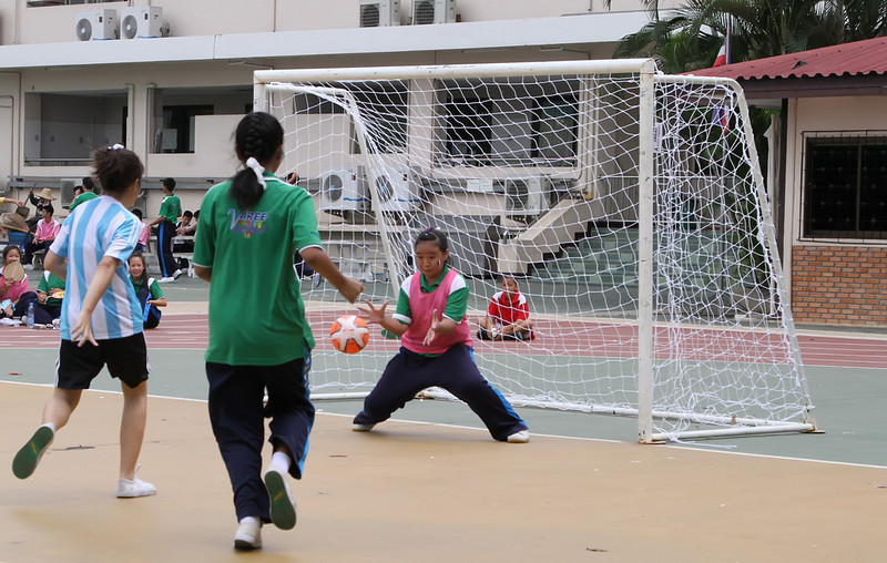 Sudents at Varee Chiangmai School take part in the VCS Mini World Cup
