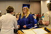 Sam Fisher receives her diploma during the Vermont Adult Learning graduation on Thursday, July 14, 2016. Kristopher Radder / Reformer Staff