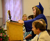 Kaleigh Maskell talks about some of the challenges she faced and the reasons she pursued further education with Vermont Adult Learning during the graduation ceremony at the VFW Post 1034 on Black Mountain Road on Thursday, July 14, 2016. Kristopher Radder / Reformer Staff
