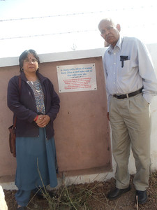 Donation of water well at at Gathad Primary  School in Surendranagar District