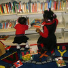 Lauryn & Tenia at the Public Library