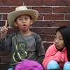 Washington Elementary School in Lowell holds a celebration for their new Peace Garden. Third grader Nathen Yoth, and 4th grader Anna Tran.  (SUN/Julia Malakie)