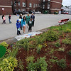 Washington Elementary School in Lowell holds a celebration for their new Peace Garden.  (SUN/Julia Malakie)