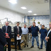 From left: Web Industries CEO Don Romine, MassBay President John O'Donnell, Web Industries General Manager Ron Giard, Web Industries Continuous Improvement/Training Manager Bruce Bumpis, Web Industries employees Sancerio Macedo and Santos Flores, and Massachusetts Senator Karen Spilka.