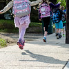 Meetinghouse and Westminster Elementary School students participate in the Walk to School Day in Friday morning. SENTINEL & ENTERPRISE / Ashley Green