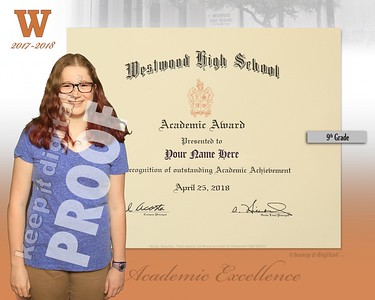 Freshman Academic Award 2018 - Custom