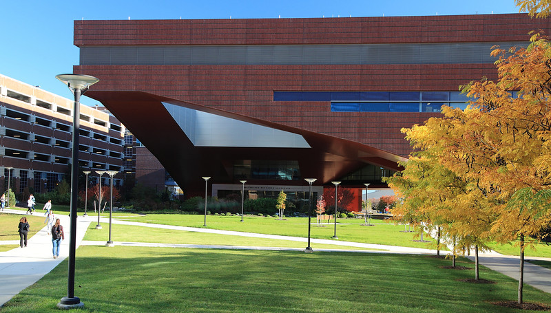 The Millennium Science Complex, newly opened in fall, 2011.
