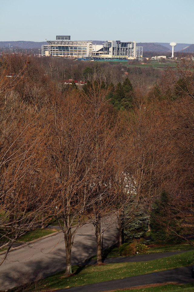 Beaver stadium as seen from my front yard