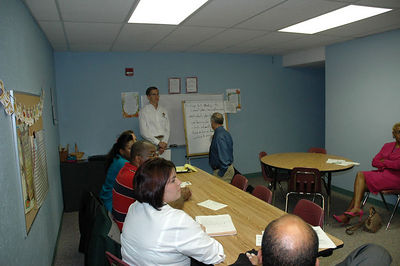 St. Mark Church hosted the community busing meetings.