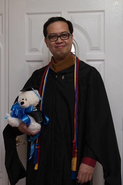 Received a nice graduation teddy bear gift