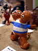 Bob Raines--Montgomery Media<br /> A two-headed, multi-eyed ceramic creature makes an appearance sporting a blue and white striped tee shirt at the Wissahickon School District Art show May 21, 2015