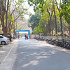 The road leading to the campus has been gated - makes the entire area 'campus'. The wall along the MH is gone and so is Dadu's from the usual spot.....