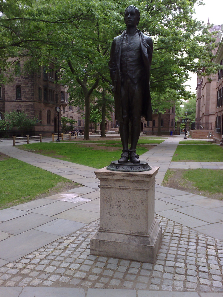Nathan Hale Statue, Old Campus