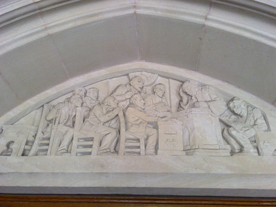 Law School Lintel - Left