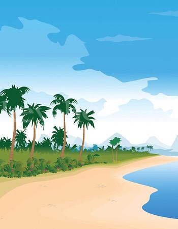 8 5x11 Beach Left