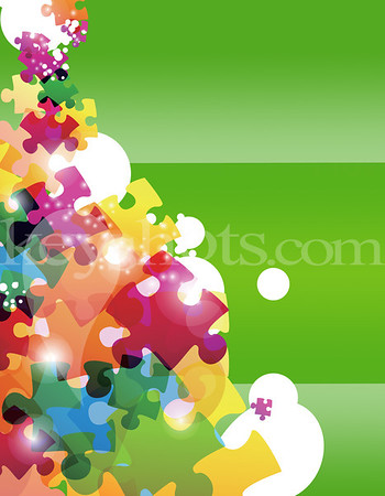 8 5x11 - Puzzle - Green - Back