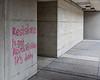 "Slogan on Ross Building. ""Resistance is not revoluntarionary. It's duty."""