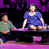 "Mark Maynard | for The Herald Bulletin<br /> Schroeder (Noah Robinson) plays the piano as Lucy (Kasey Titkemeyer) expresses in song her infatuation with him in ""You're a Good Man, Charlie Brown"" at Anderson University."