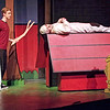 "Mark Maynard | for The Herald Bulletin<br /> Snoopy (Sam Lynch) is completely disinterested in Linus's (Conner Thompson) offer to play fetch with him in ""You're a Good Man, Charlie Brown"" presented by Anderson University."