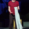 "Mark Maynard | for The Herald Bulletin<br /> In the Anderson University production of "" You're a Good Man, Charlie Brown, Linus (Conner Thompson) sings about his ever-present blanket."