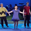 "Mark Maynard | for The Herald Bulletin<br /> Charlie Brown (Isaac Derkach) and Linus (Conner Thompson) seem perplexed by Lucy's (Kasey Titkemeyer) rather inaccurate nature lesson in Anderson University's presentation of ""You're a Good Man, Charlie Brown."""