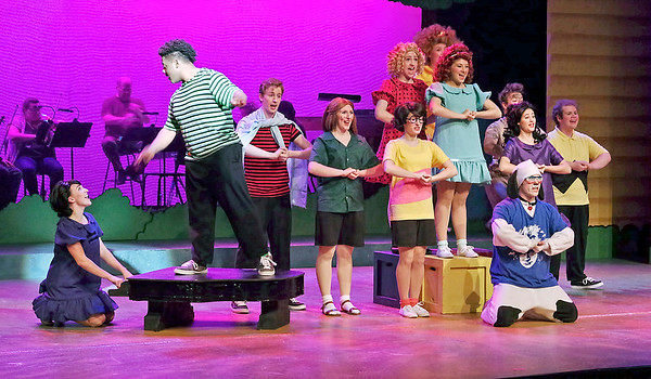 """Mark Maynard   for The Herald Bulletin<br /> Anderson University has assembled a strong, talented cast for its production of """"You're a Good Man, Charlie Brown."""