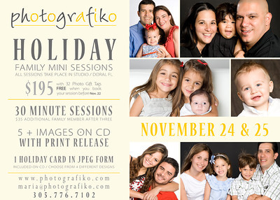 Family Photo Studio in this Thanksgiving weekend -  have a great experience with photos that you'll love and memories that will last forever  with the photos you could select unique & customize gifts  for all the family - grandma will love it!