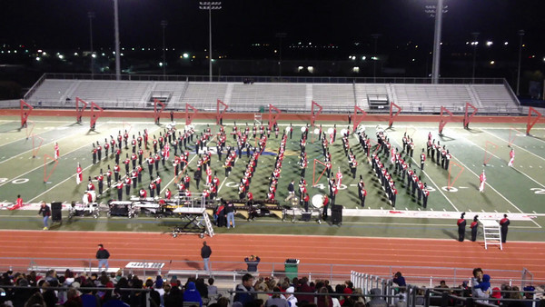"Liberty Redhawk Band Performs, ""Red Cubed"""