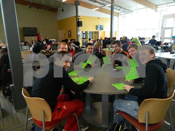 Left to right: Blake Whalen, Nathan Meiners, Bryce Elm, Tyson Wieland, Josh Pronaska, Travis Hamm