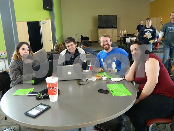 Left to right: Amanda Schutt, Adam Rich, Jakon cavanuga, Sara Hook