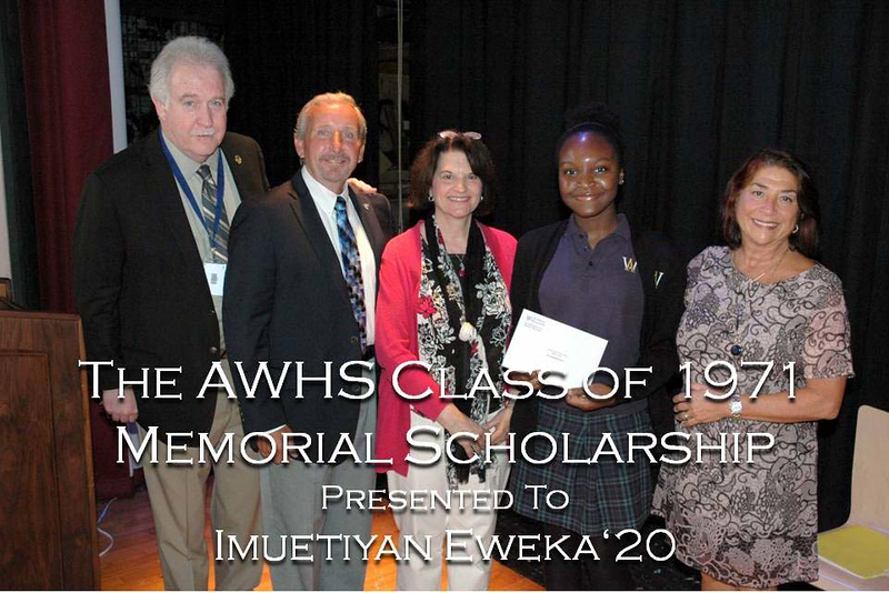 2018 AWHS Class of 1971 Memorial Scholarship