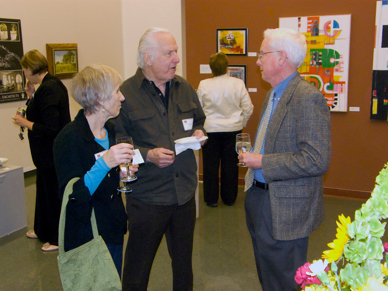 Left, my art teacher Bob Finch, now retired, and wife, with Todd Pearson.