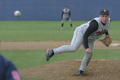 Napavine senior pitcher Nick West ends his high school career in Regional game against Adna.
