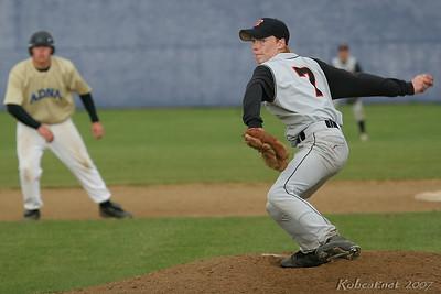 Napavine freshmen Joe Scamman takes the hill against the hot bats of the Pirates.