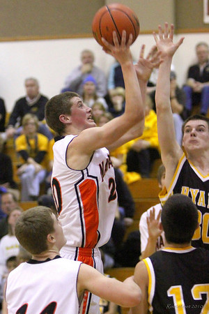 Colton Brown led the way with 18 points and seven rebounds.