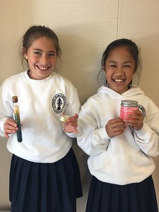 Margot and Jolie's Lipbalm and Glitter Jars, Margot N. & Jolie Z. (5th Grade)