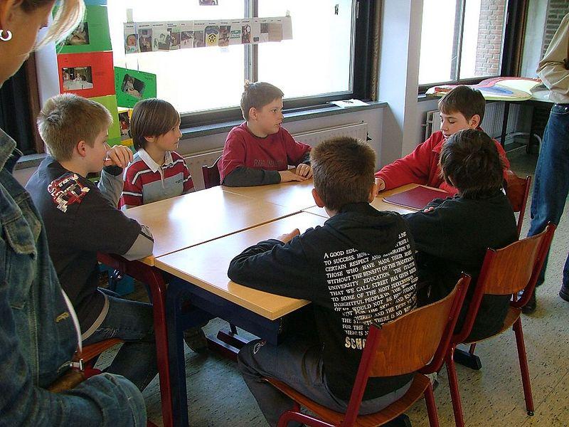Na de middag konden ze praten met eerstejaars van de verschillende afdelingen.